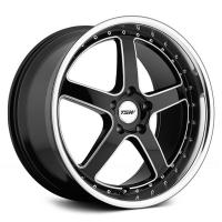 8*19 5*108 ET40 72 TSW Carthage Gloss Black Mirror Lip